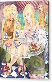 Melrose Place Melange Acrylic Print by Lisa Hershman