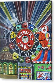 Memories Of Asbury Park  Acrylic Print by Patricia Arroyo