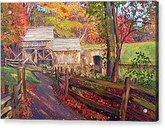 Memories Of Autumn Acrylic Print by David Lloyd Glover