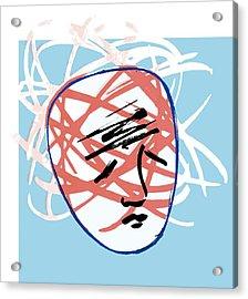 Mental Breakdown, Conceptual Artwork Acrylic Print by Paul Brown