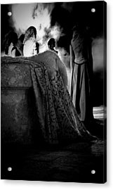 Merry Meet Black And White Acrylic Print by Jasna Buncic