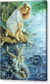 Message In The Water Acrylic Print by Catherine Foster