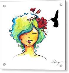 Messenger Acrylic Print by Karen Feiling