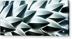 Metallic Feathers, Full Frame Acrylic Print by Ralf Hiemisch