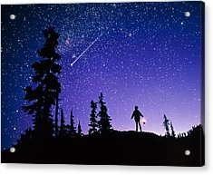 Meteor Acrylic Print by David Nunuk