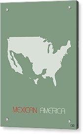 Mexican America Poster Acrylic Print by Naxart Studio