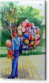 Mexico Globero II Acrylic Print by Estela Robles