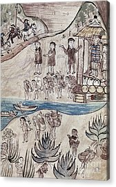 Mexico Indians C1500 Acrylic Print by Granger