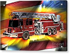 Mfd Ladder Co 1 Acrylic Print by Tommy Anderson