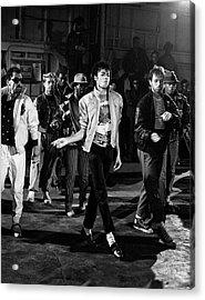 Michael Jackson - Beat It Acrylic Print by Chris Walter