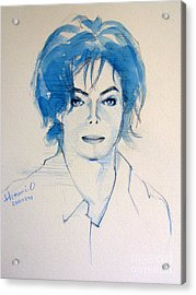 Michael Jackson - Gimme Your Wings Acrylic Print by Hitomi Osanai