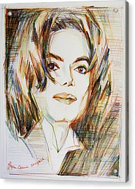 Michael Jackson - Indigo Child  Acrylic Print by Hitomi Osanai