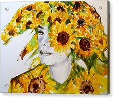 Michael Jackson - Sunflower Acrylic Print by Hitomi Osanai