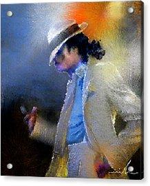Michael Jackson 10 Acrylic Print by Miki De Goodaboom