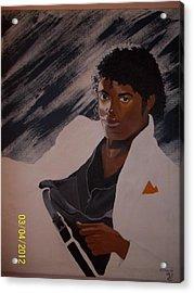 Michael Jackson Acrylic Print by Elaine Holloway