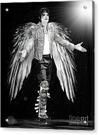 Michael King Of Angels Acrylic Print by Karine Percheron-Daniels