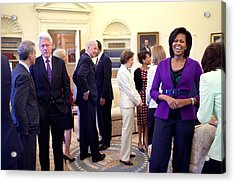 Michelle Obama Laughs With Guests Acrylic Print by Everett