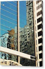Michigan Ave. Reflection Acrylic Print by Todd Sherlock