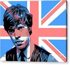 Mick Jagger Carnaby Street Acrylic Print by David Lloyd Glover