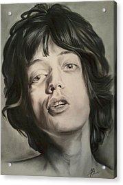 Mick Jagger Acrylic Print by Morgan Greganti