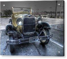 Mickey's Car Acrylic Print by William Fields