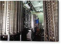 Microbe Fermentation Unit Acrylic Print by Volker Steger