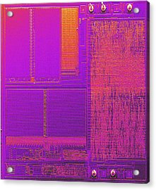 Microchip, Sem Acrylic Print by Power And Syred