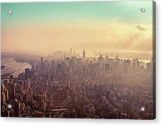 Midtown Manhattan At Dusk Acrylic Print by Matthias Haker Photography