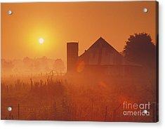 Midwestern Rural Sunrise - Fs000405 Acrylic Print by Daniel Dempster