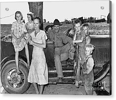 Migrant Workers 1939 Acrylic Print by Granger