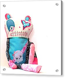 Mika The Original Party Monster Zombie Acrylic Print by Oddball Art Co by Lizzy Love