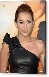 Miley Cyrus At Arrivals For The Last Acrylic Print by Everett