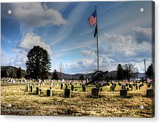 Military Honors Acrylic Print by Shirley Tinkham