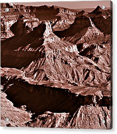 Milk Chocolate Mountains Acrylic Print by Bob and Nadine Johnston