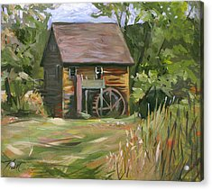 Mill In The Meadow Acrylic Print by Nancy Griswold