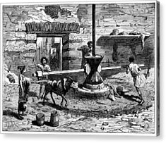 Milling Flour, Historical Artwork Acrylic Print by Cci Archives