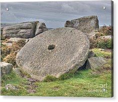 Millstone On Edge Acrylic Print by Steev Stamford