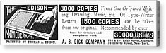 Mimeograph Ad, 1890 Acrylic Print by Granger