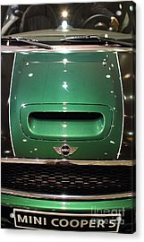 Mini Cooper . 7d9529 Acrylic Print by Wingsdomain Art and Photography