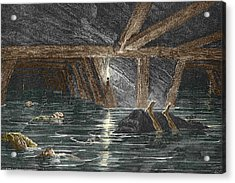 Mining Disaster, 19th Century Acrylic Print by Sheila Terry