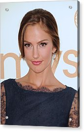 Minka Kelly At Arrivals For The 63rd Acrylic Print by Everett