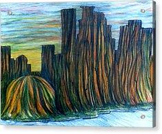 Minne Valley Acrylic Print by Richard  Hubal