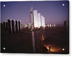 Mirror-winged Solar Panels Convert Acrylic Print by James A. Sugar