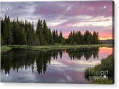 Mirrored Dawn Acrylic Print by Idaho Scenic Images Linda Lantzy
