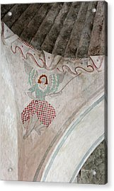 Mission San Xavier Del Bac - Painting Detail Acrylic Print by Suzanne Gaff