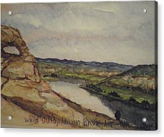 Missouri Breaks Acrylic Print by Les Herman