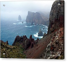 Misty Cliffs Acrylic Print by John Chatterley