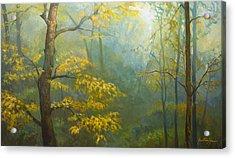 Misty Mountains Acrylic Print by Jonathan Howe