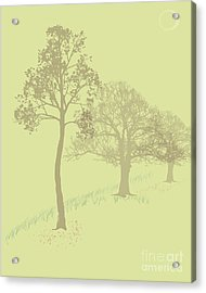 Misty Trees Acrylic Print by Michelle Bergersen