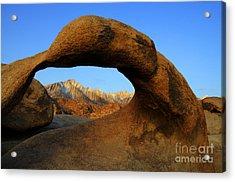 Mobius Arch California Acrylic Print by Bob Christopher